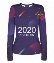 Женская футболка с длинным рукавом 3D New Year 2020