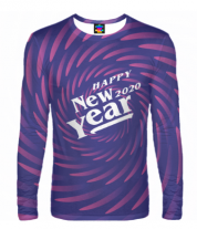 Мужская футболка с длинным рукавом 3D New Year 2020