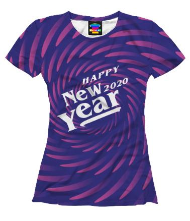 Женская футболка 3D New Year 2020