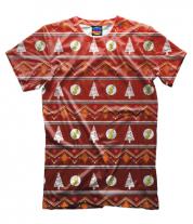 Мужская футболка 3D Flash New Year