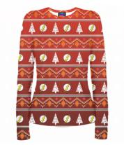 Женская футболка с длинным рукавом 3D Flash New Year