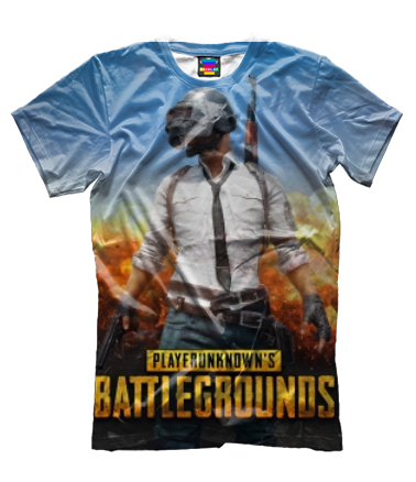 Мужская футболка 3D Playerunknown`s battlegrounds 1