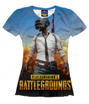 Женская футболка 3D Playerunknown`s battlegrounds 1