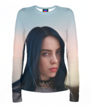 Женская футболка с длинным рукавом 3D Billie Eilish