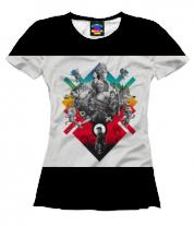 Женская футболка 3D PlayStation 25 years