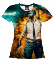 Женская футболка 3D PUBG