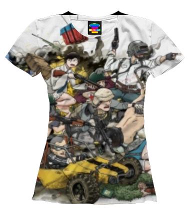 Женская футболка 3D PUBG прикольная кратинка