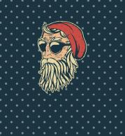 Мужская футболка 3D Bad Santa