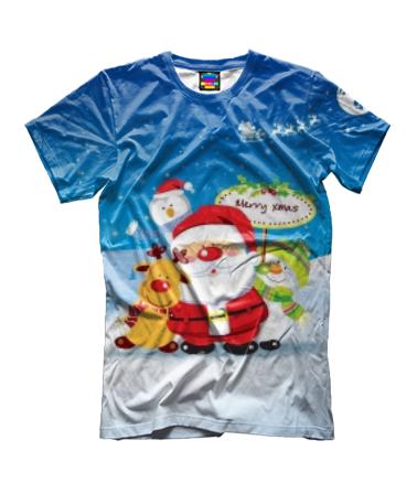 Детская футболка 3D Santa