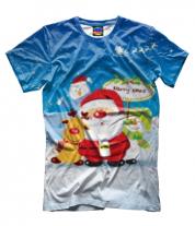 Мужская футболка 3D Santa