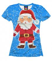 Женская футболка 3D Дед мороз