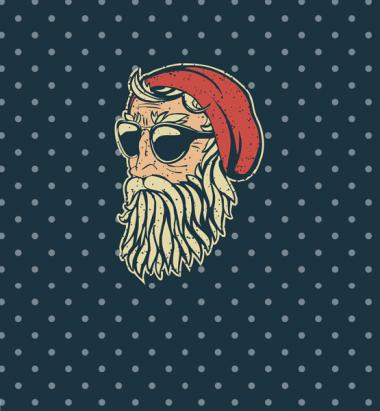 Толстовка без капюшона 3D Santa