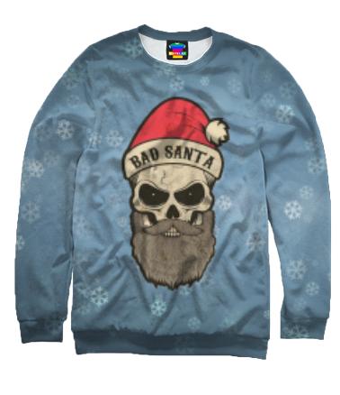 Толстовка без капюшона 3D Bad Santa