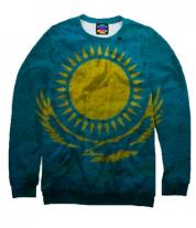 Толстовка без капюшона 3D Флаг Казахстана