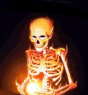 Толстовка без капюшона 3D Эскилет