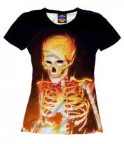 Женская футболка 3D Эскилет