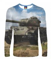 Мужская футболка с длинным рукавом 3D Т-34