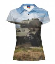 Футболка поло женская 3D Т-34