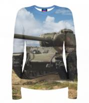 Женская футболка с длинным рукавом 3D Т-34