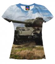 Женская футболка 3D Т-34