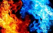 Толстовка без капюшона 3D Битва огней