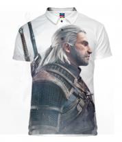 Футболка поло мужская 3D Witcher Two: Profile