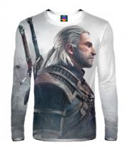 Мужская футболка с длинным рукавом 3D Witcher Two: Profile