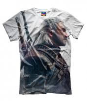 Мужская футболка 3D Witcher Two: Profile