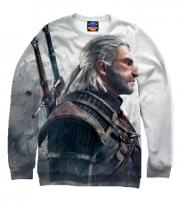 Толстовка без капюшона 3D Witcher Two: Profile