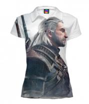 Футболка поло женская 3D Witcher Two: Profile