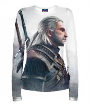 Женская футболка с длинным рукавом 3D Witcher Two: Profile