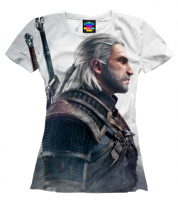 Женская футболка 3D Witcher Two: Profile