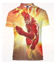 Футболка поло мужская 3D Flash