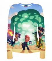 Женская футболка с длинным рукавом 3D Brawl Stars