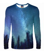 Мужская футболка с длинным рукавом 3D Звёздная даль