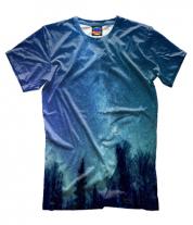 Мужская футболка 3D Звёздная даль