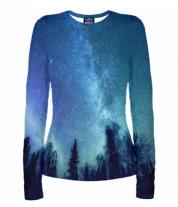 Женская футболка с длинным рукавом 3D Звёздная даль