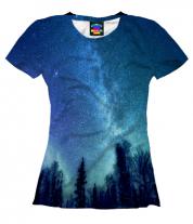 Женская футболка 3D Звёздная даль