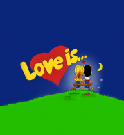 Детская футболка 3D Love is