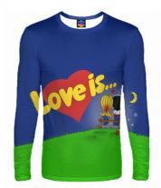 Мужская футболка с длинным рукавом 3D Love is