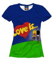 Женская футболка 3D Love is