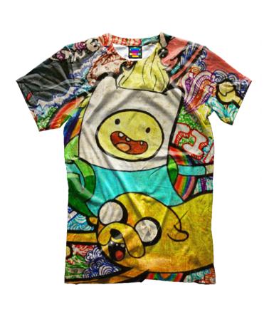 Детская футболка 3D Время приключений