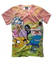 Мужская футболка 3D Время приключений