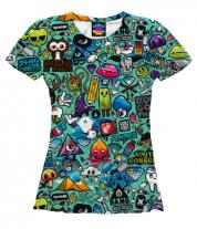 Женская футболка 3D Наклейки