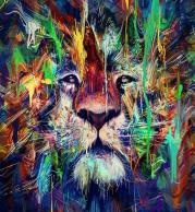 Толстовка без капюшона 3D Лев