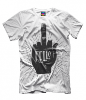 Мужская футболка 3D Hello