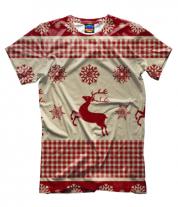 Мужская футболка 3D Олень