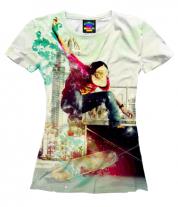 Женская футболка 3D Скейтборд