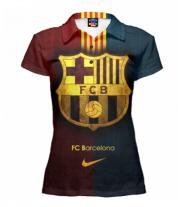 Футболка поло женская 3D Barcelona
