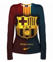 Женская футболка с длинным рукавом 3D Barcelona